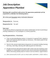 Plumbers Key Apprentice Plumber Job Description Template Templates For Invitations Baby Shower