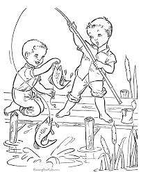 Coloring Book Page Of Fish