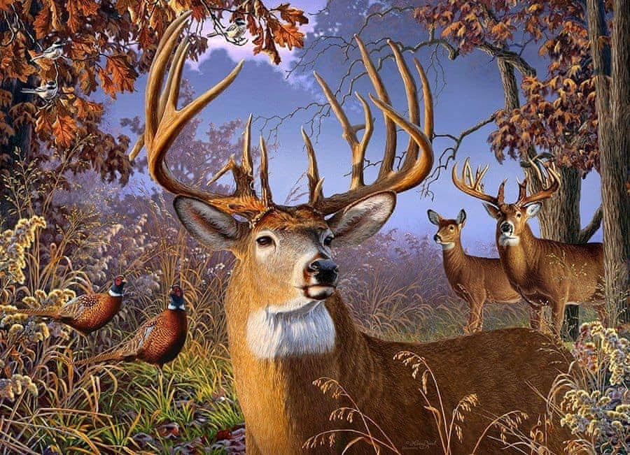 Cobble Hill Deer and Pheasant 500 PC Puzzle