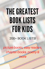 Halloween Picture Books For Third Graders by Giant Collection Of Book Lists For Kids