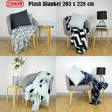 100 Apartmento Details About 220GSM Plush Blanket Double Queen 203 X 228 Cm By
