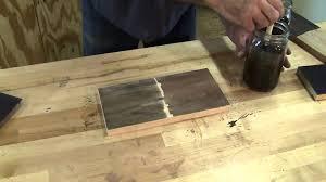 Restain Hardwood Floors Darker by Ebonizing Wood Youtube