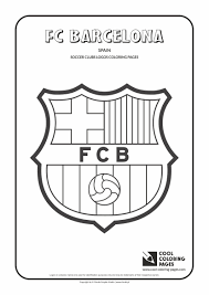 FC Barcelona Logo Colouring Page