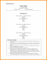 Professional Reference List 6 Sheet Sample Format Of Notice 1301 X 1676