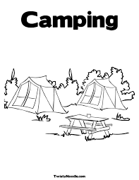 Epic Camping Coloring Pages 96 About Remodel Print With