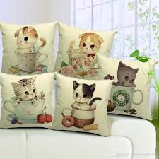 Replacement Sofa Pillow Inserts by 5 Styles Lovely Cats Cushion Covers Cat Bucks Coffee Mug Flower