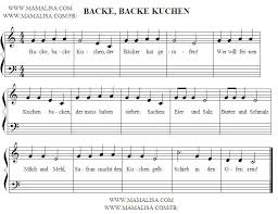 backe backe kuchen german children s songs germany