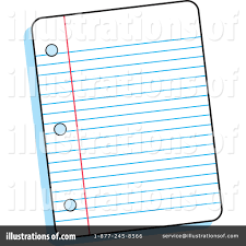 Ruled Paper Clipart Illustration by Johnny Sajem
