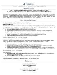 Resume Objective For Executive Assistant Administrative Sample Resumes Net Example Writing Examples