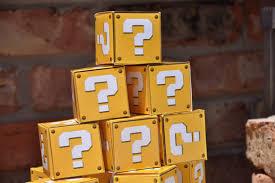 mario boxes party ideas pinterest question mark mario and