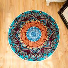 neue boho boden matte garderobe teppiche und teppiche mandala matte hippie mandala nicht slip runde teppich für wohnzimmer zimmer