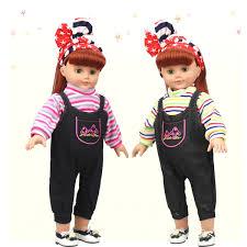 2pcs Spaghetti Shirt Jeans SunTop Dress Outfits Accs For 18