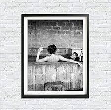 doludo wandkunst mcqueen poster leinwand gemälde mcqueen badezimmer mit seiner frau mens fashion print schwarz weiß foto home decor 30 x 50 cm kein