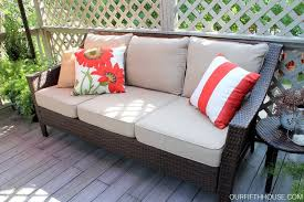 Bjs Patio Furniture Cushions by Bjs Sofa Covers Outdoor Living Deck Updates Our Fifth House Bj