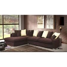 canapé d angle de luxe meublesline canapé d angle 5 places luxe tissu chocolat beige