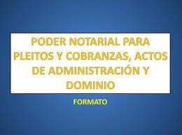 Carta Poder Ante Notario
