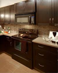 lovable kitchen colors with light brown cabinets and mosaic glass