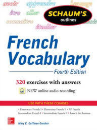 Schaums Outline Of French Vocabulary Edition 4