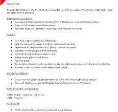 Sample Resume Phlebotomist Technician For Dental Assistant With Entry Level Examples Of Resumes D