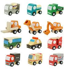 100 Truck Store US 1789 37 OFF12Pcs Wooden Car Toys Mini Car Model Vehicle Set Car Accessories Classic Construction Team Educational Model Toys For Kidsin