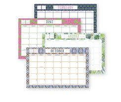 2018 desk blotter calendar print paper