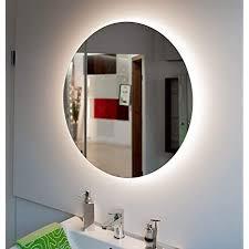 badspiegel rund mit led beleuchtung touch schalter optional runder wandspiegel mit indirekte beleuchtung forte moon 100 ø cm led neutral