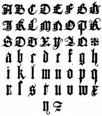 Albrect Durer 1500 Blackletter fonts and monograms