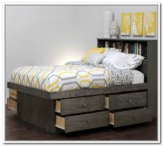 queen size platform bed with storage plans home design ideas