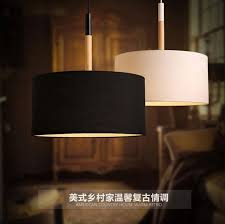 Northern European Modern Pendant Light Simple Restaurant Dining Room Solid Wood Circular Fabric Lamp Shade Personality Creative In Lights From