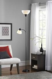 Halogen Floor Lamps Bed Bath And Beyond by Mainstays Black Floor Lamp With Reading Light And Cfl Bulbs Hw
