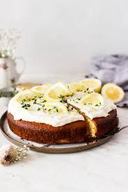 rezept für einen zitronen joghurt kuchen mit olivenöl hey