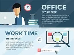 Be nde In Infographic Bureau Het Werk Tijd Loupe En Vector