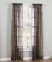 Brylane Home Curtain Panels by Brylanehome Sheer Leopard Panel By Brylanehome 9 99 Our Leopard