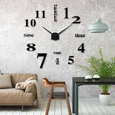 diy wanduhr diy 3d wanduhren modern design acryl wanduhren wandtattoos dekoration uhren für büro wohnzimmer schlafzimmer uhr geschenk home