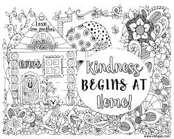 Holiday Coloring Pages Kindness Begins At Home