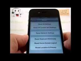 HARD RESET APPLE iPHONE 4S Master Data Wipe RESTORE to FACTORY