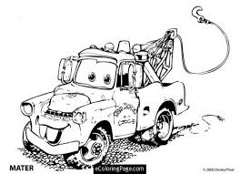 Cars Tow Mater Coloring Page Lightning Mcqueen Sheet 390020