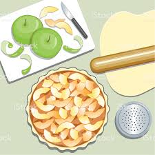 Illustration of baking an apple pie royalty free illustration of baking an apple pie stock