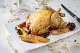 cuisine chapon recette de chapon de noël farci aux morilles pommes de terre