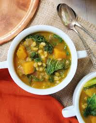 Pumpkin Butternut Squash Soup Vegan by Acorn Squash Kale And Barley Soup Vegan Veganosity
