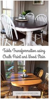 Chalk Paint Kitchen Table Makeover Dining Wood Stain And