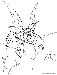 Stinkfly Alien Coloring Page
