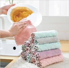 5pcs wischen die tischdecke handtuch küche ohne öl und lint freies reinigung lappen wischen handtuch