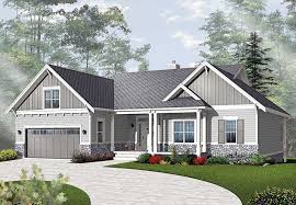 Craftsman Ranch House Designs Plans With Basement Rustic Walkout Small Design Style Home 950