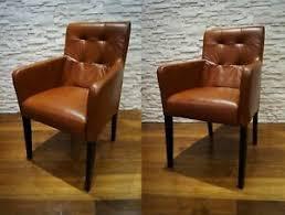 details zu echtleder esszimmerstühle mit armlehnen stuhl sessel esszimmer echt leder stühle