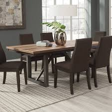 Ortanique Dining Room Table by Spring Creek Natural Walnut Wood Extension Leaf Dining Table