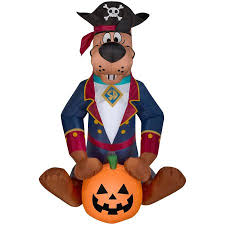 Disney Halloween Airblown Inflatables by Halloween Airblown Inflatable 4 Ft Scooby As Pirate By Gemmy