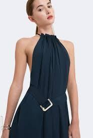 aq aq spencer halter neck maxi dress navy blue