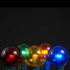 5 pack multi colored led g50 globe bulbs novelty lights