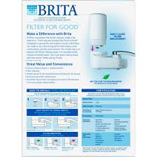 Menards Utility Sink Pump by Brita Basic On Tap Faucet Water Filter System Fits Standard